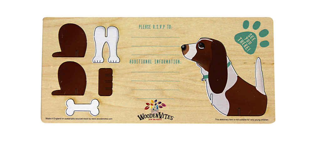 Beagle themed invite