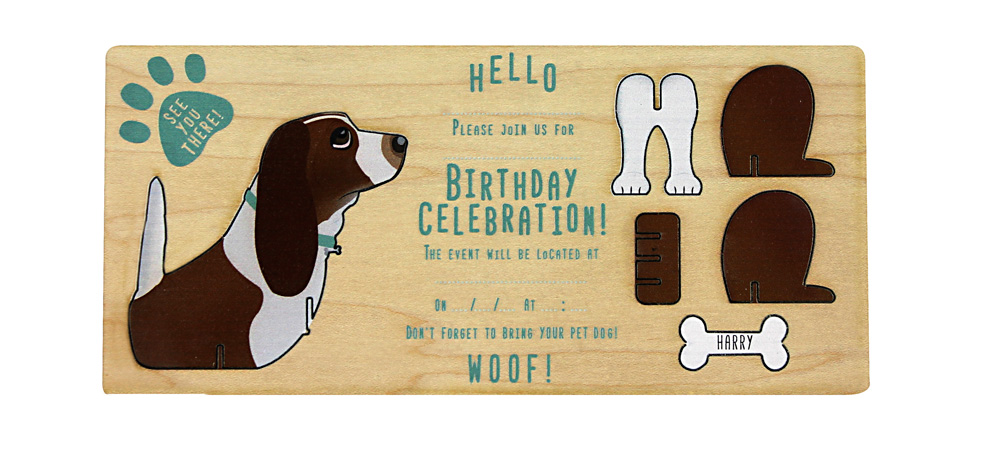 Beagle themed invite