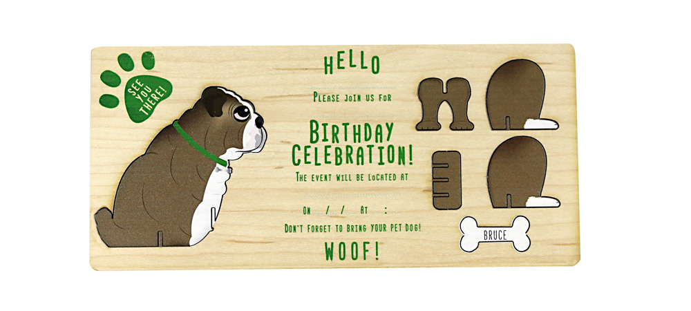 Bulldog themed invite