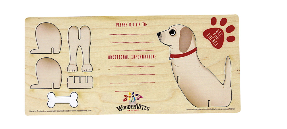 Golden Retriever themed invite