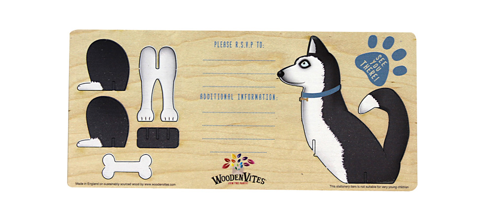 Husky themed invite