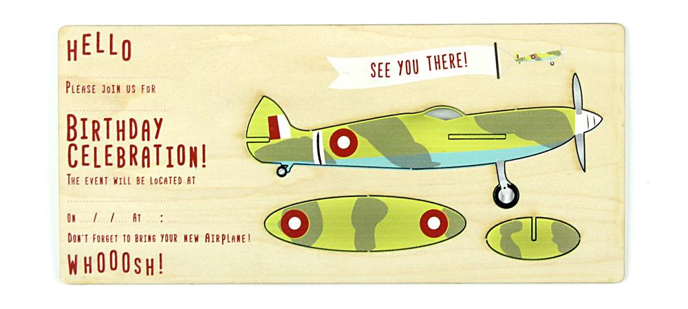 Aeroplane Invitations